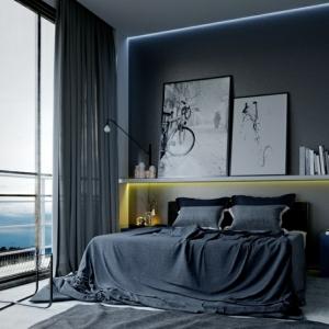 Quel mur peindre en foncé pour agrandir une pièce - les secrets pour modeler l'espace avec les couleurs