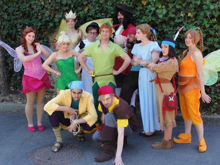 Groupe deguisement duo, déguisement original, deguisement de groupe drole, Peter Pan et ses amies et ennemies