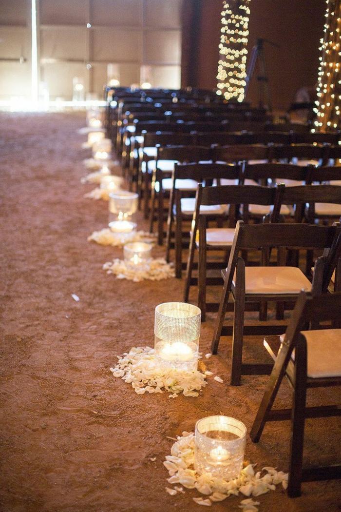 deco mariage champetre pas cher, grange rénovée décorée pour un mariage rustique