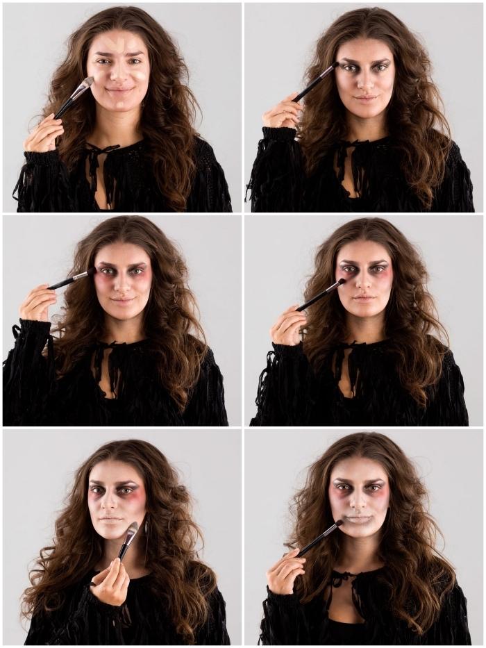 comment réaliser un maquillage halloween zombie aux cheveux ébouriffés et teint pâle