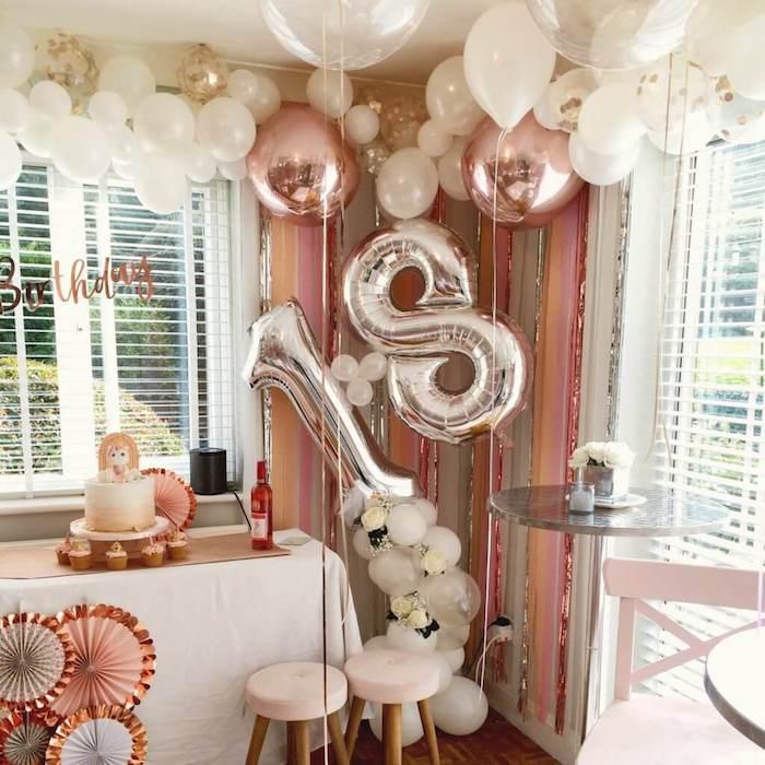 Décoration salle anniversaire, comment fêter ses 18 ans façon inoubliable, idée pour les 18 ans