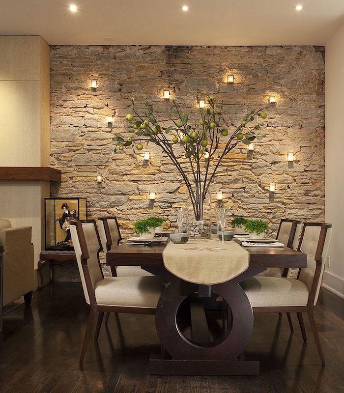 1001 id es mur en pierre int rieur pilier en terme d - Salle de bain avec pierre de parement ...
