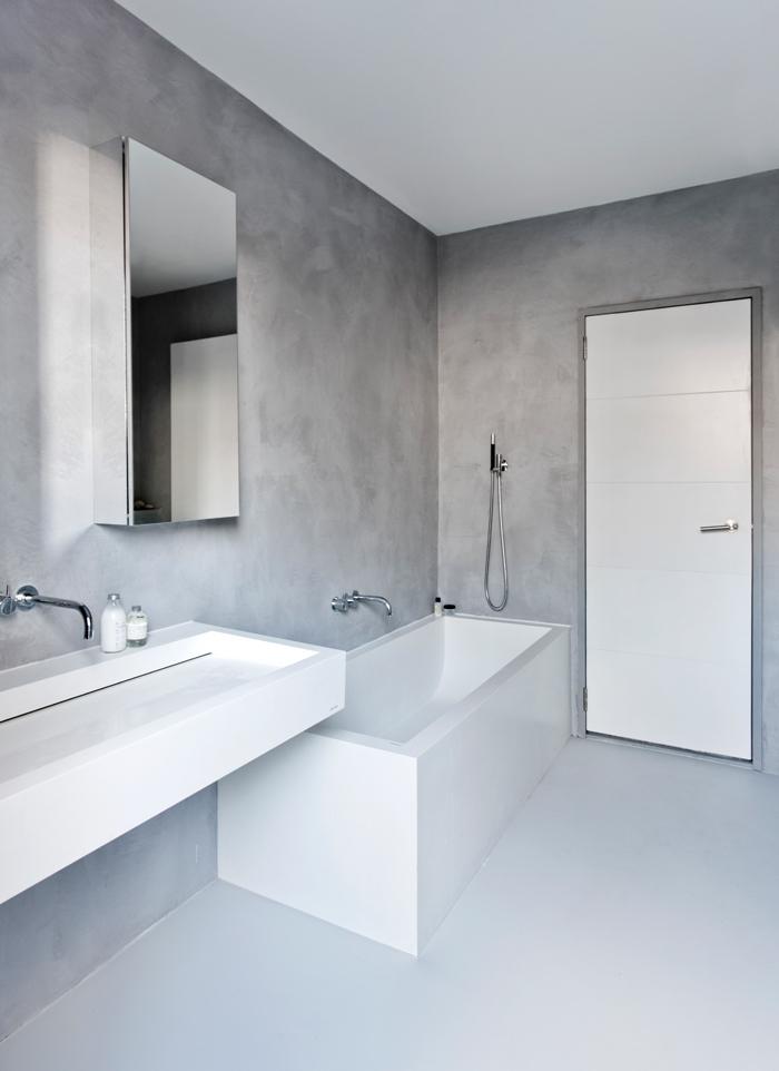 Salle de bain sans carrelage des alternatives possibles obsigen - Salle de bain sans carrelage mural ...