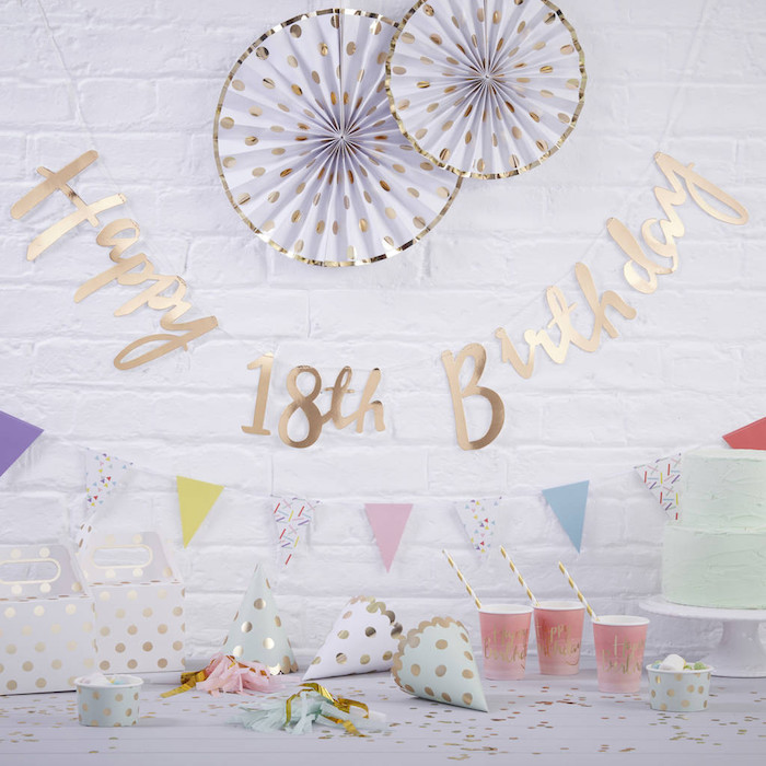 Deco fete pas cher, décoration anniversaire 18 ans, age importante fêter avec amis