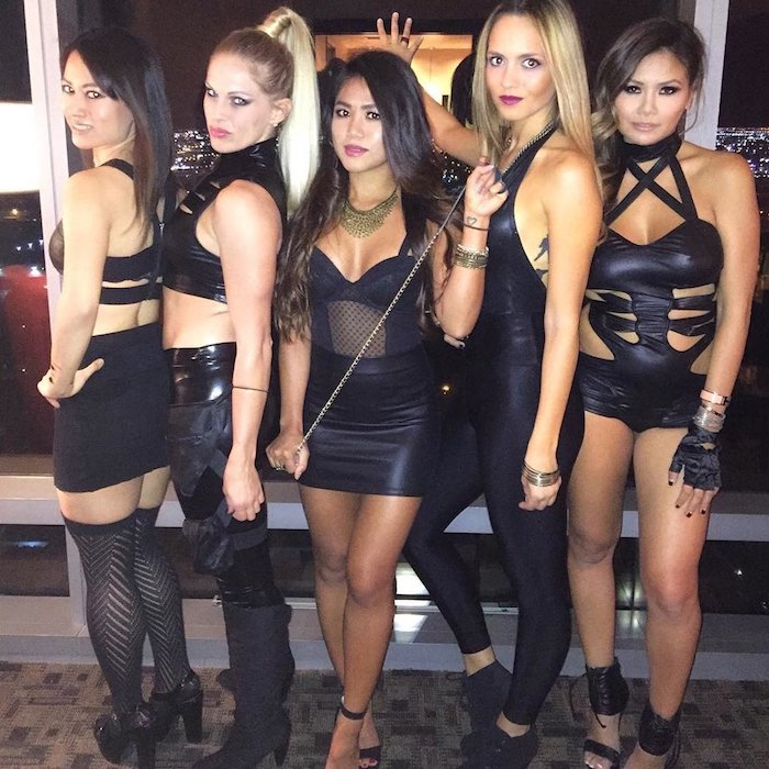 Idée theme carnaval, video de Taylor Swift bad blood costumes pour amies, célèbre déguisement costume percent