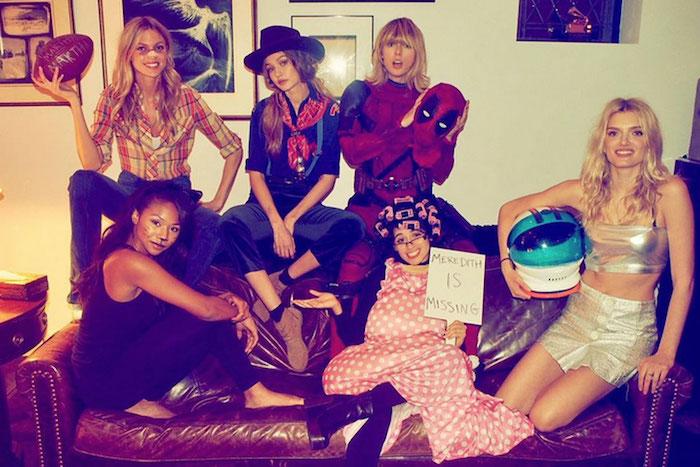 Idée costume carnaval, idée de costume groupe, fille deguisement en groupe swift squad, les amies de taylor swift, la réel taylor