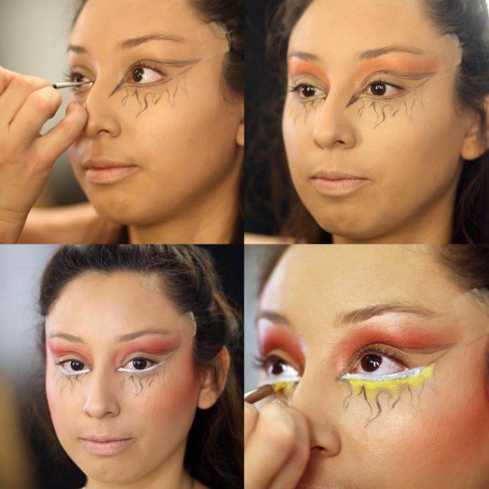 tuto maquillage halloween facile pour un regard en feu idéal pour compléter votre déguisement en diablesse