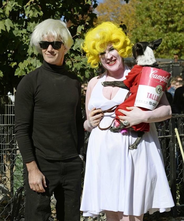 déguisement Andy Warholl et idée de déguisement de chien, costumes faciles à trouver pour halloween