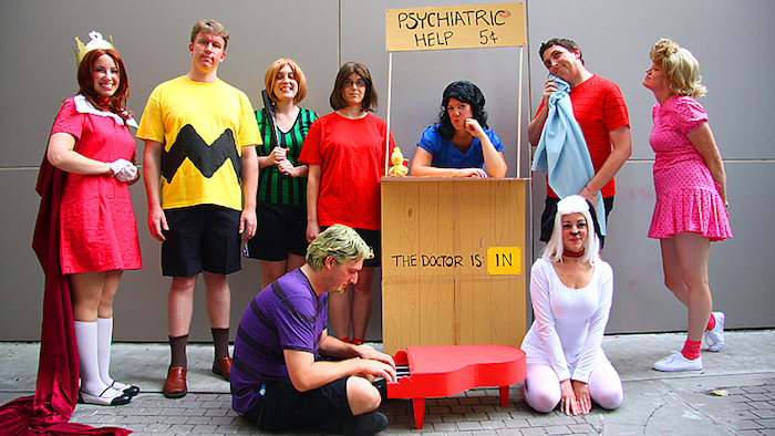Originale idée déguisement de groupe ridicule, une idée deguisement halloween maison thématique