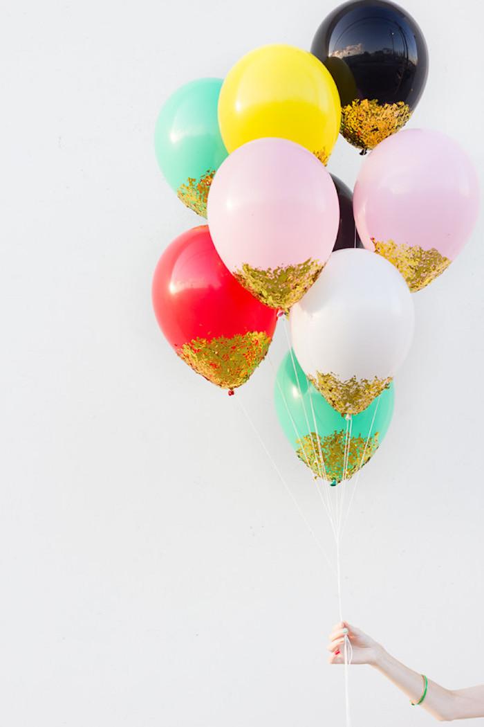 Idée déco diy décoration anniversaire 18 ans, joyeux anniversaire 18 ans, ballons décorées originalement
