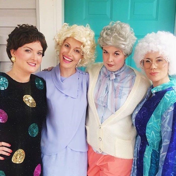 Deguisement de groupe, deguisement fête halloween maison costumes complémentaires, the golden girls déguisement
