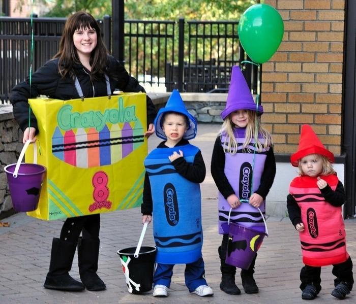 Diy déguisement crayons, carnaval facile à réaliser, deguisement groupe, déguisement de groupe festive