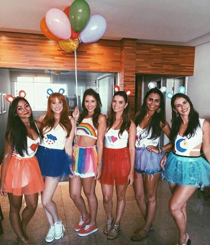 Idée déguisement cool idee de deguisement groupe s habiller pour la fête, filles colorés vetements