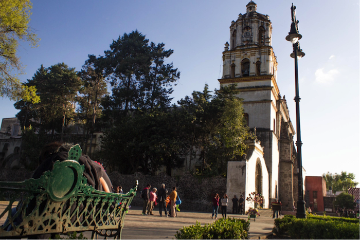 église et parc, vue de mexique, découvrir le patrimoine culturel, mexique tourisme, quels sont les lieux à visiter