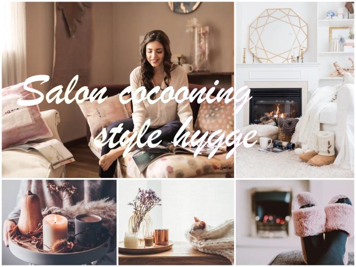 conseils pour créer une déco salon cocooning de style hygge, comment créer une ambiance accueillante et cozy dans le salon juste à temps pour les fêtes