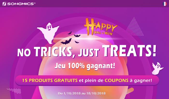 image du jeu concours songmics pour gagner produits et bons de réduction pour halloween