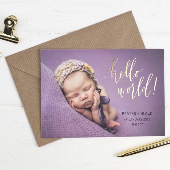 idée faire part naissance pas cher, modèle de faire part à personnaliser, carte d'annonce arrivée de bébé pour fille
