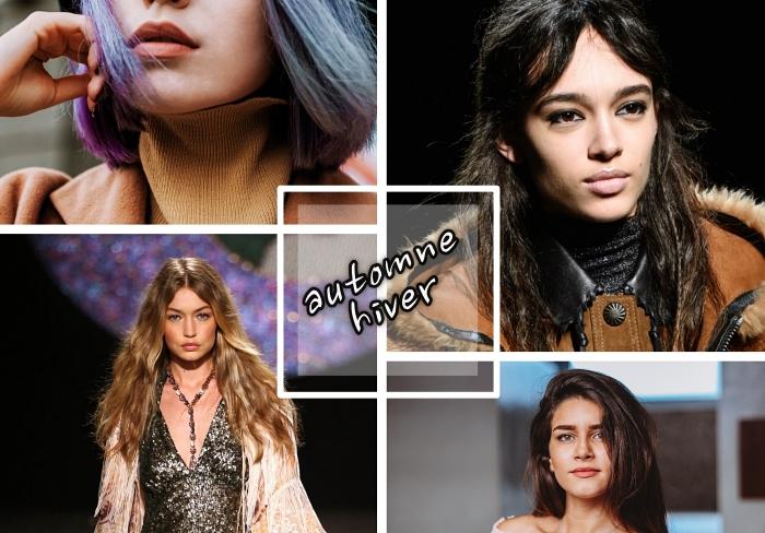 quelle coupe de cheveux tendance femme 2018, exemple coupe carré long ou mi-long avec mèches colorées en nuances pastel