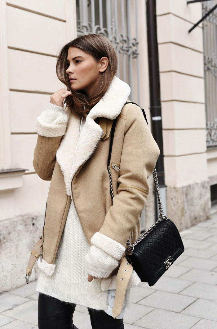 Vetement hippie style, manteau fausse fourrure boheme chic, tenue boheme chic, vetement hippe pour femme moderne