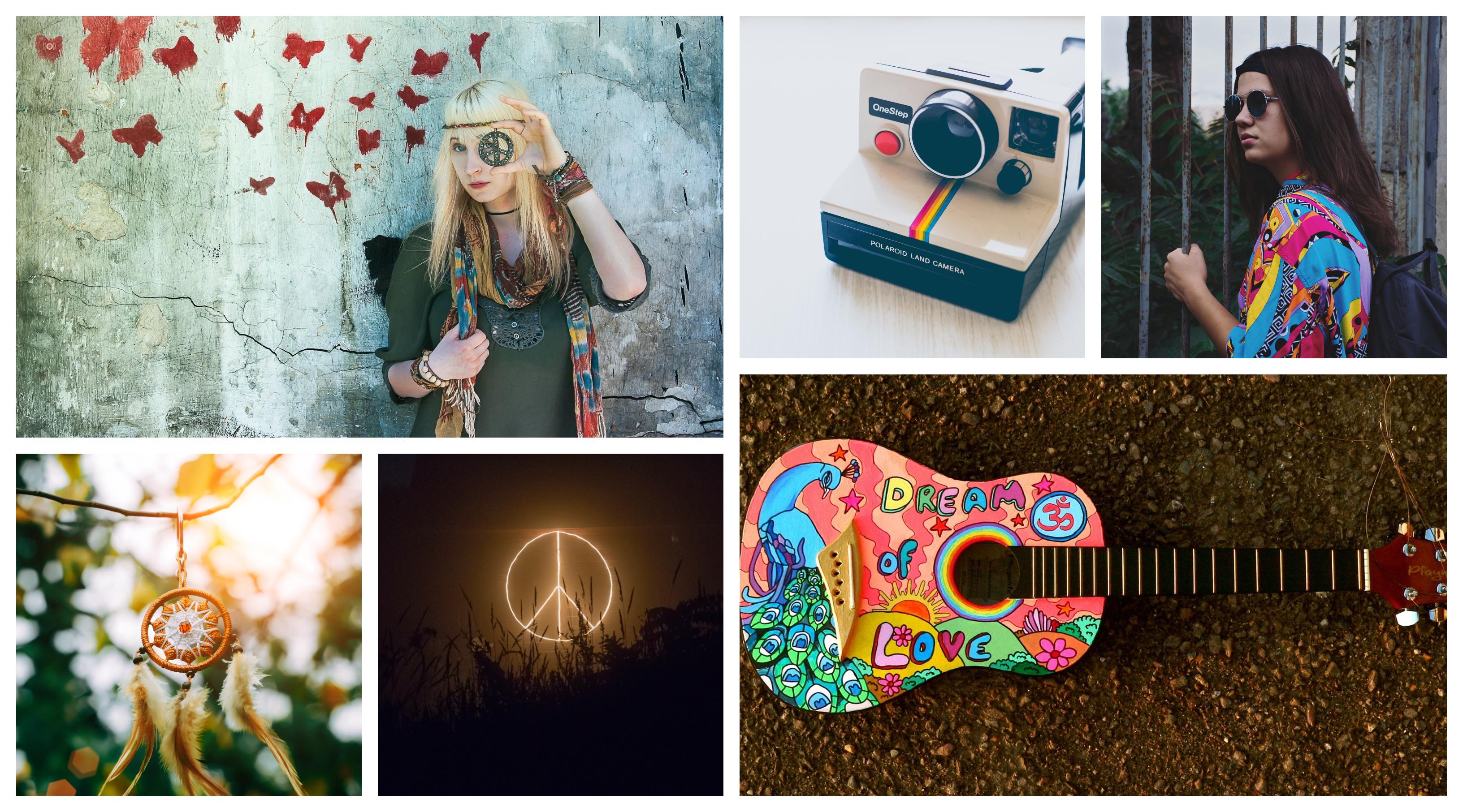 Soiree a theme hippie ou woodstock, comment décider quelle soirée organiser, Hippie vie amour et paix, décoration coloré