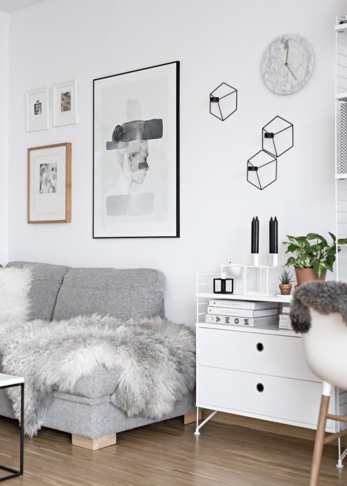 id es de d co salon cocooning de style hygge juste temps. Black Bedroom Furniture Sets. Home Design Ideas