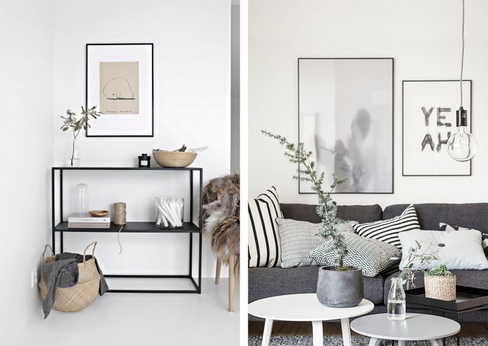 deco sejour de style scandinave en tons neutres et aux accents naturels, éléments indispensables pour un salon de style hygge