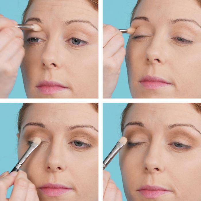 étape 2 du tutoriel pour maquillage de pin up avec comment se maquiller les yeux dans le style années 50