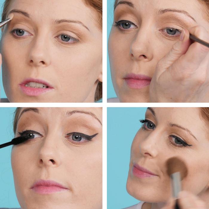 troisième étape du maquillage de pin up ou comment appliquer du crayon noir eye liner comme dans les années 50