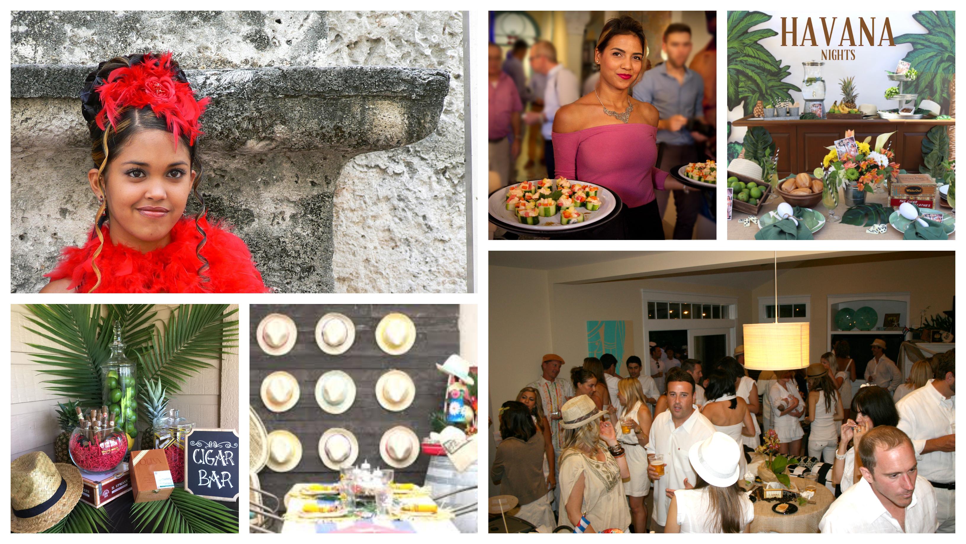 Soirée déguisée sur le thème de Cuba, Havana nights decoration, idée comment organiser une soirée déguisée, soiree a theme