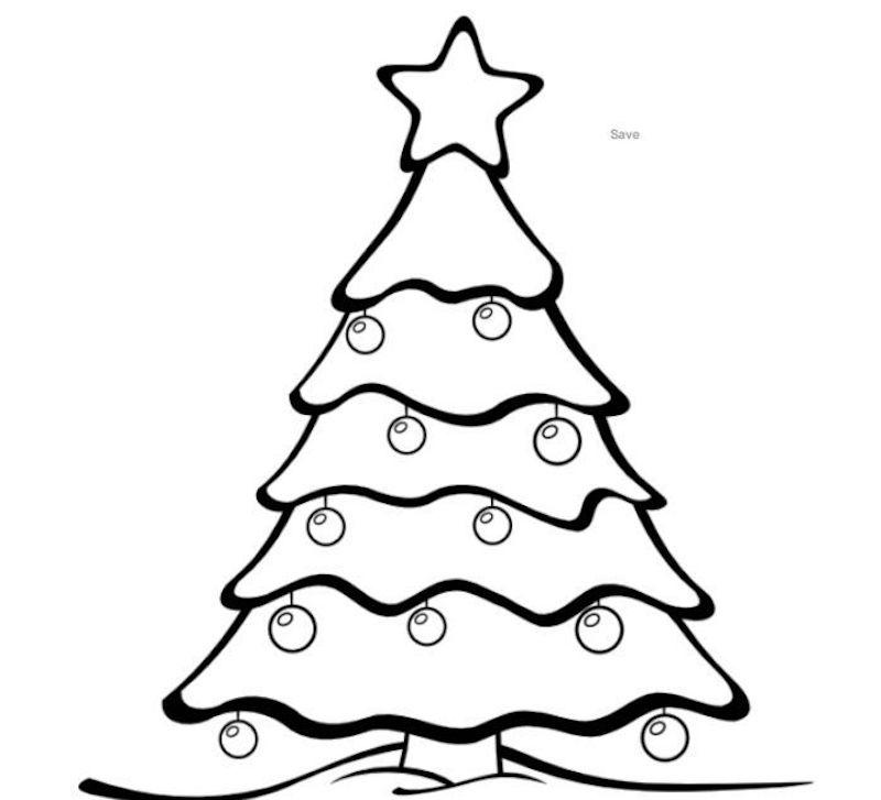 sapin de noel dessin facile à colorier pour enfant de maternelle pour activité vacances