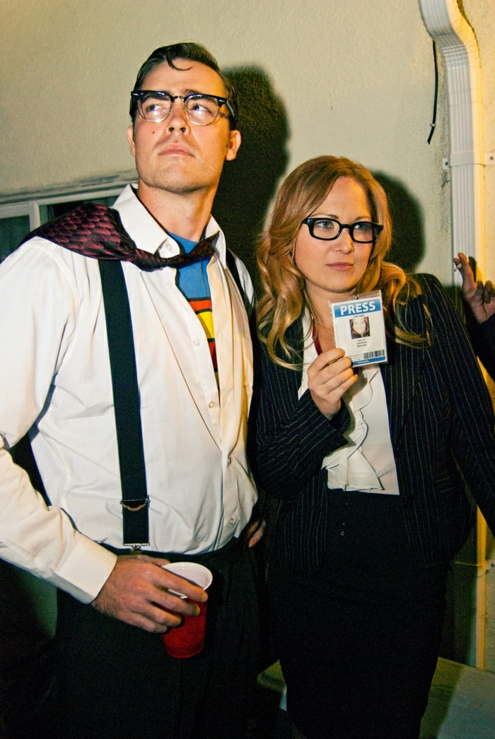 Deguisement groupe de deux, couple déguisement Superman et Lois Lane, soirée déguisée, cool idée comment s amuser entre nous