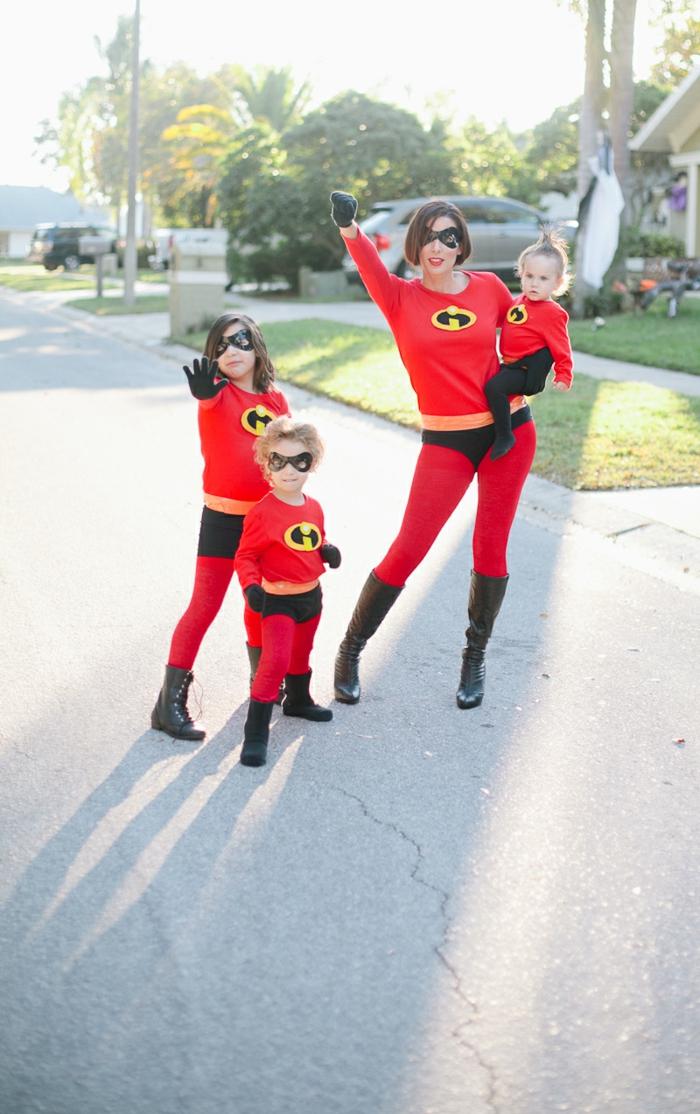 Soiree a theme super heros, soirée déguisée avec tous les membres de la famille, choisir les meilleures costumes déguisements thématiques
