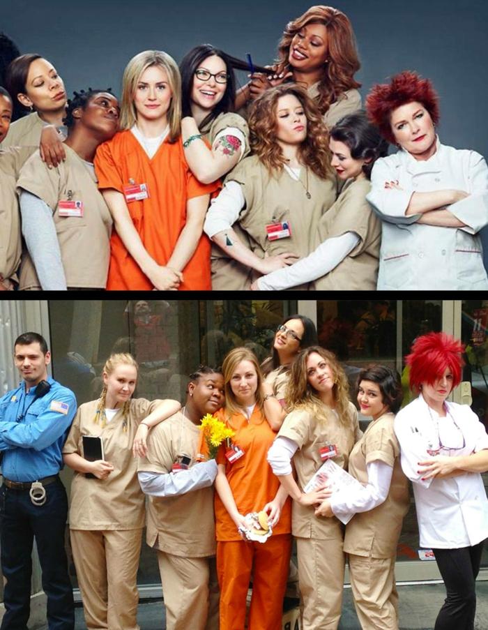Theme nouvel an ou halloween, soirée déguisée Orange est le nouveau noir, thematique soiree speciale costume