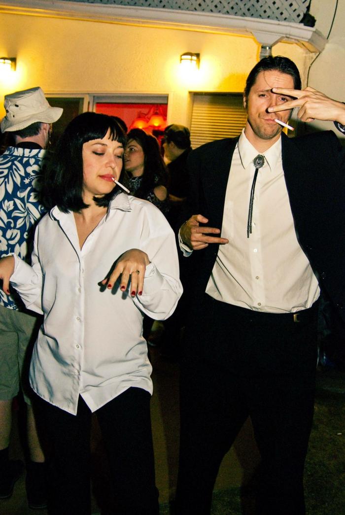 Thème déguisement soirée déguisée, soirée costumee avec un thème, Pulp fiction déguisement femme et homme couple deguisement simple pour la derniere minute