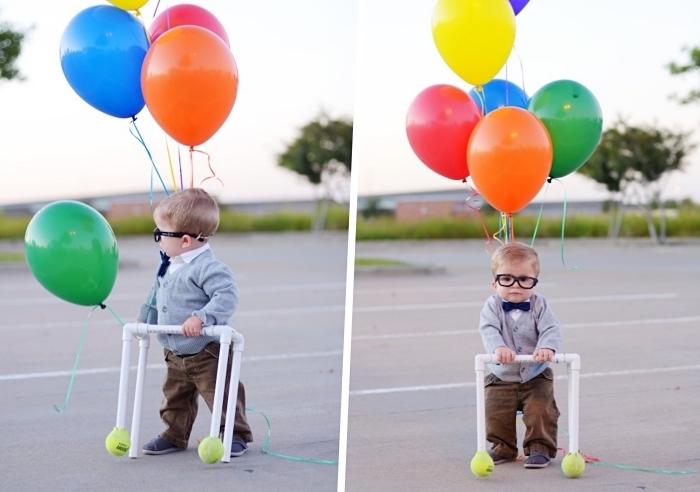faire un déguisement facile pour enfant, modèle de costume Halloween sur le thème personnage favorite, déguisement enfant rigolo