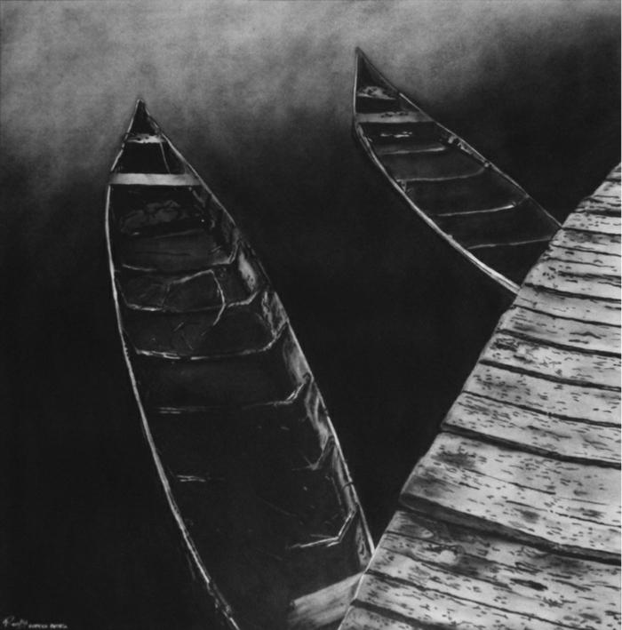 Dessin noir et blanc facile, dessin au fusain, être un artiste, idée de vieillir ensemble avec quelqu'un