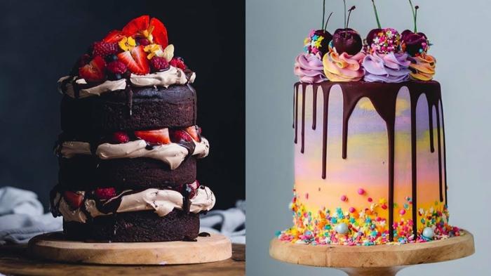 Gateau anniversaire fille, gateau anniversaire simple et beau chef d oeuvre grand 1 etage, belle réalisation de décoration gâteau original