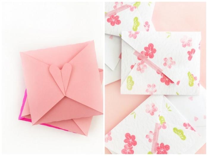 jolie papeterie en origami à faire soi-même pour offrir une carte de voeux ou un petit cadeau surprise à ses proches