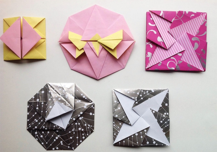 fabriquer enveloppe originale avec plusieurs techniques de pliage origami, emballage cadeau original à faire soi-même, enveloppe origami en formats variés