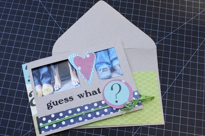 quel faire part de naissance diy pour petit budget, modèle de carte annonce bébé en papier cartonné avec photos