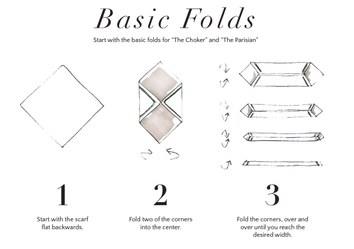 techniques nouage de foulard classique, comment porter un foulard femme, idée comment mettre une echarpe