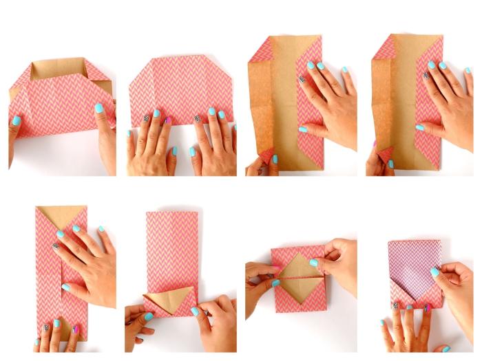du papier origami feuille a4 plié en enveloppe personnalisée origami pour emballer une carte cadeau