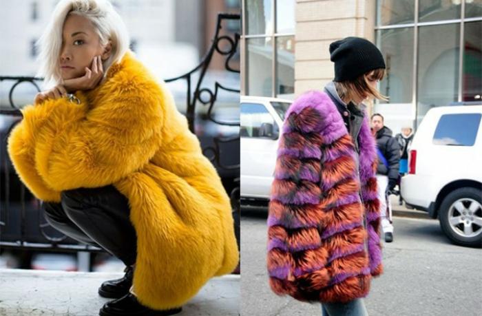 Jupe boheme, comment porter le manteau fausse fourrure bohème, idée de tenue décontractée chic avec une jupe et pull