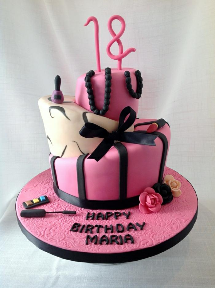 Gateau anniversaire fille 18 ans, gateau anniversaire adulte origina choisir facilement