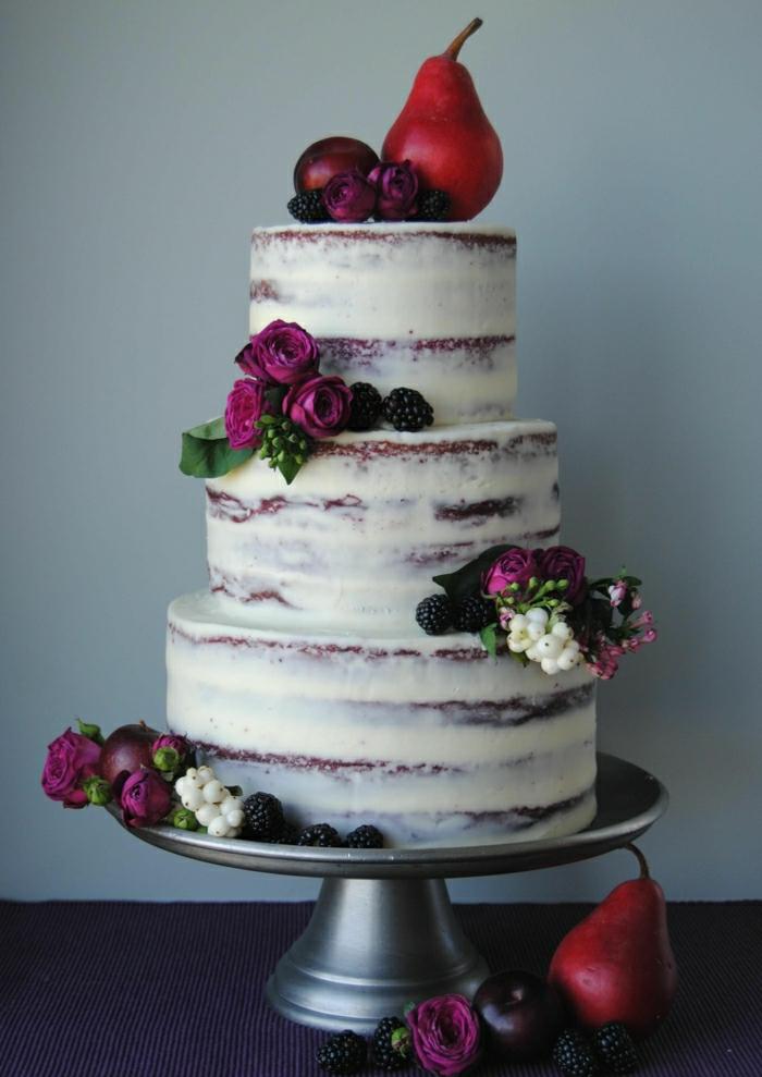 Le plus beau gâteau du monde, gateau anniversaire adulte photo merveilleuse avec fleurs et fruits d automne