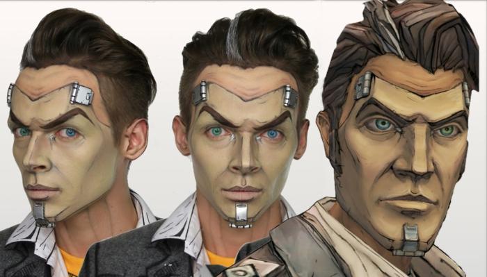 lentilles de couleur bleues, visage de héros des films animés, éléments attachés au visage; maquillage terrifiant