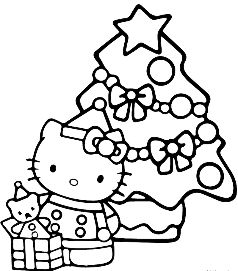 Sapin de noel hello kitty
