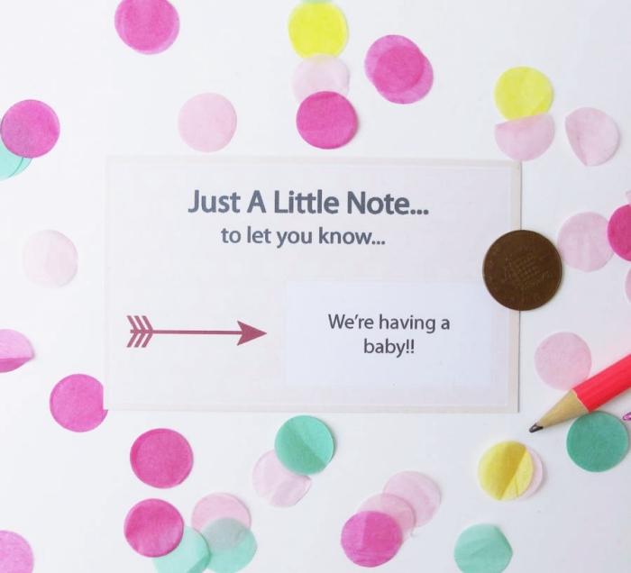 mot d'annonce naissance bébé original, exemple de faire part bébé en papier pour petit budget, faire part naissance créatif