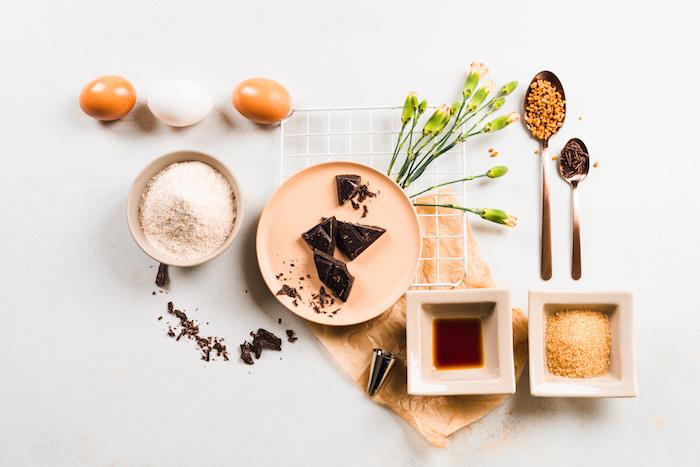 ingrédients mécessaires pour faire dessert churros maison plus sains avec de la farine de blé entier et cassonade