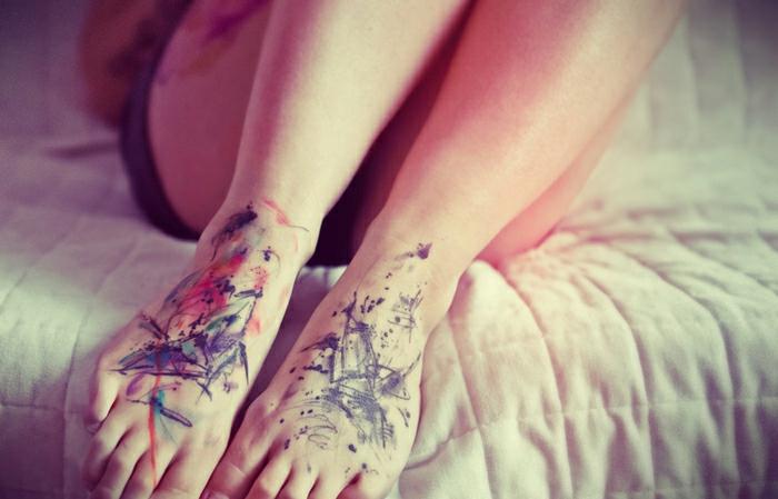 Mon tatouage avant bras, tatouage commun couple mon premier tatouage, sur les pieds, watercolor tatouage original